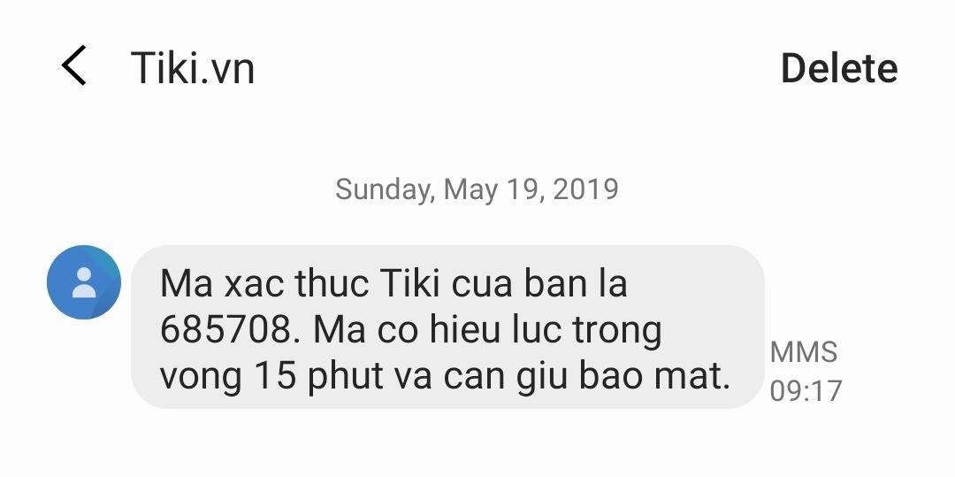 SMS OTP – TIN NHẮN XÁC THỰC OTP FPT